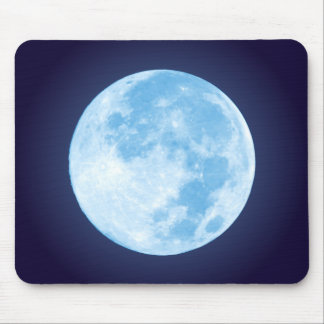 Blue Full Moon Mousepad