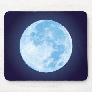 Blue Full Moon Mousepad