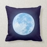Blue Full Moon Pillow