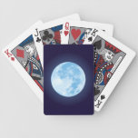 Blue Full Moon Playing Cards