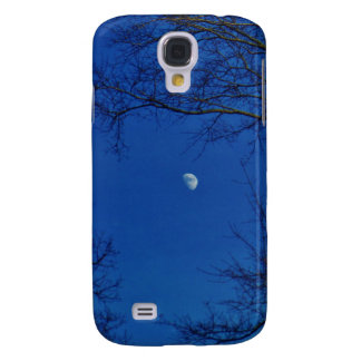 Blue Full Moon With Trees Samsung Galaxy S4 Covers