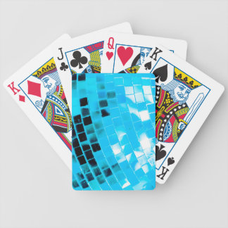 Blue Funky Disco Ball Poker Deck