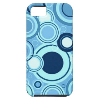 Blue Funky Retro Circles Mod Pattern iPhone 5 Covers