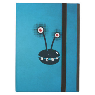 Blue Funny Halftone Cartoon Alien Folio Cover For iPad Air