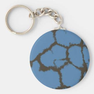 Blue Fur Giraffe Pattern Keychain