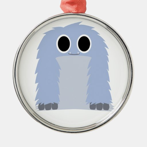 Blue Furry Monster Ornament
