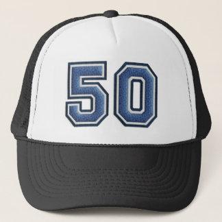 Blue Fuzz Number 50 Trucker Hat