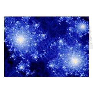 Blue Galaxies Card