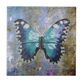 Blue Galaxy Butterfly Tile