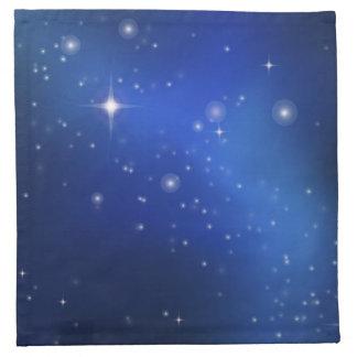 Blue galaxy napkins