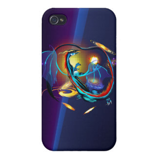 Blue Galaxy Dragon  iPhone 4/4S Covers