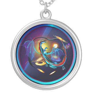 Blue Galaxy Dragon-Necklace