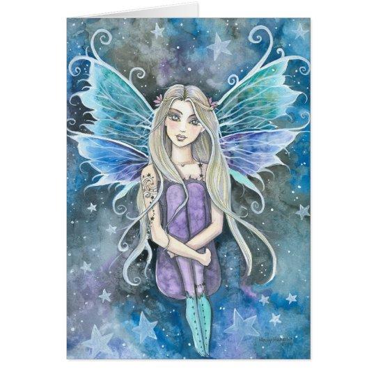 Blue Galaxy Fairy Card by Molly Harrison