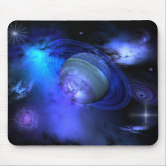 Blue galaxy mouse mat