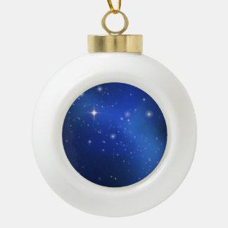 Blue galaxy ceramic ball decoration