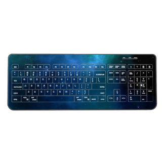 Blue Galaxy Sky Wireless Keyboard