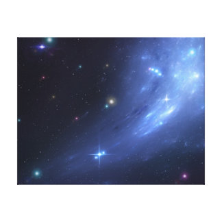 Blue Galaxy Wrapped Canvas Canvas Prints