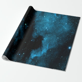 Blue Galaxy Wrapping Paper