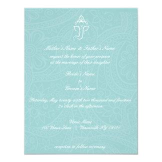 Blue Ganesha Invitaitons Card