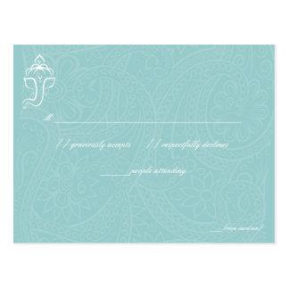 Blue Ganesha RSVP Cards