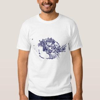 Blue Garbage Fish T-Shirt
