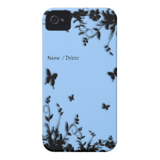 Blue Garden Butterfly Personal iPhone 4 Case-Mate Case