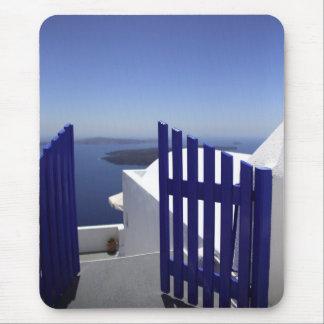 Blue gate mouse mat