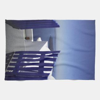 Blue gate tea towel