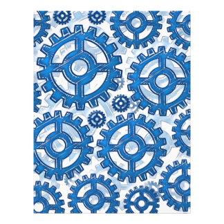Blue gear wheels custom flyer
