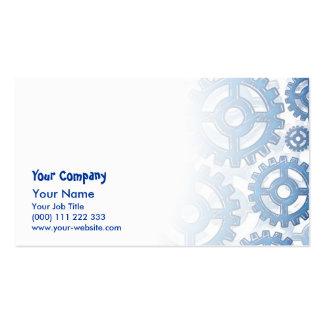 Blue gear wheels pack of standard business cards