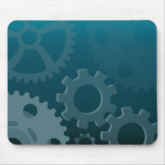 Blue Gears Mouse Pad