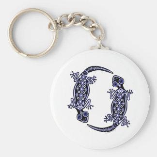 Blue Geckos Totem Keychain