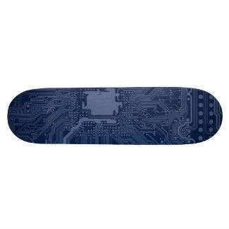 Blue Geek Motherboard Circuit Pattern 21.3 Cm Mini Skateboard Deck