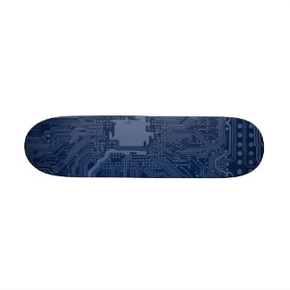 Blue Geek Motherboard Circuit Pattern 21.6 Cm Skateboard Deck