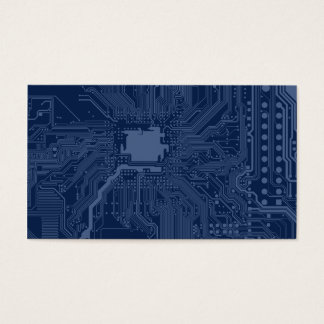 Blue Geek Motherboard Circuit Pattern Business Card