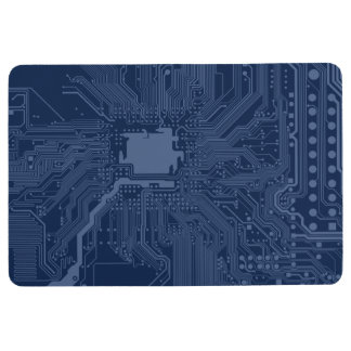 Blue Geek Motherboard Circuit Pattern Floor Mat