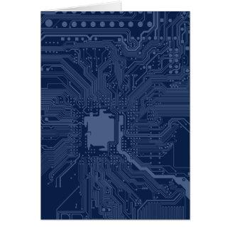 Blue Geek Motherboard Circuit Pattern Note Card
