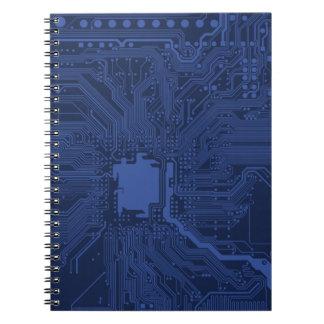 Blue Geek Motherboard Pattern Notebooks