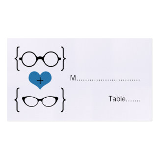 Blue Geeky Glasses Wedding Place Cards Pack Of Standard Business Cards