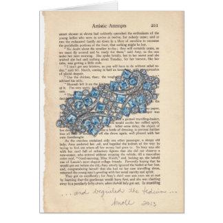 Blue Gems Jewelry Watercolor Series Notecard Card