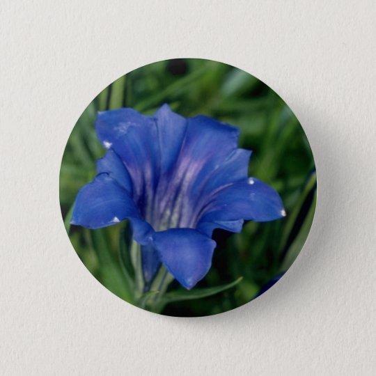 Blue Gentian flowers 6 Cm Round Badge
