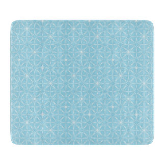 Blue Geo Chopping Board