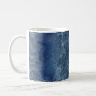 Blue Geode Basic White Mug