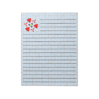 blue geometric abstract cool pattern notepad