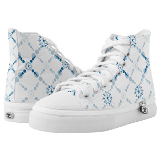 Blue Geometric Crop Circle Printed Shoes