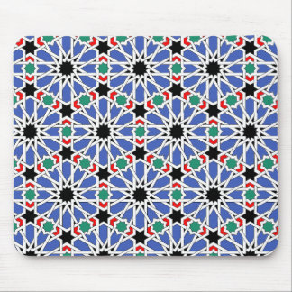 Blue Geometric Design Mousepad