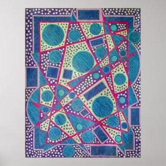 Blue Geometric Design Poster