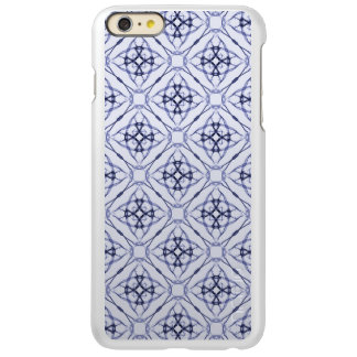 Blue Geometric Diamond Pattern
