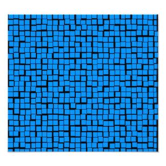 Blue geometric pattern photo art