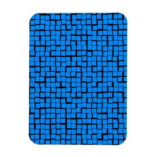 Blue geometric pattern magnet